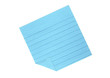 Blue lined post-it with folded corner