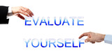 Evaluate yourself words poster