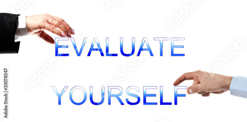 poster of Evaluate yourself words