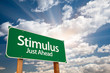 Stimulus Green Road Sign and Clouds