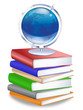Earth Globe on Stack of Books