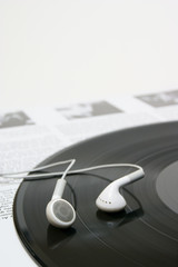 イヤホンとレコード