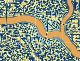 Streets and river