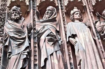 Façade de la Cathédrale de Strasbourg en Alsace