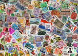 A large world foreign postage stamp collection background poster