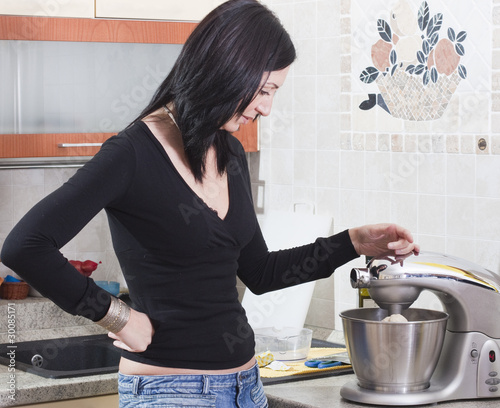 Young Adult Woman Preparing Fresh Pasta