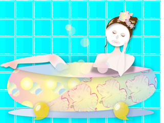 お風呂でパック
