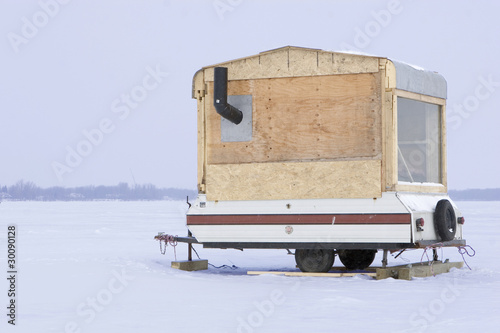Ice fishing trailer