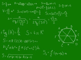 Geometry formulas on the blackboard