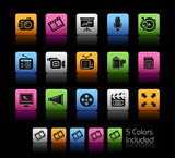 Fototapety Multimedia / The vector file includes 5 colors