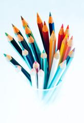 Buntstifte in verschiedenen Farben..