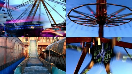 Fun at fairground - video montage