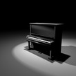 piano isometric stage artistic