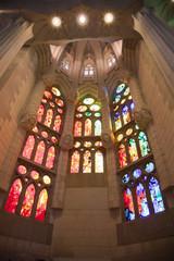 Vidrieras en la Sagrada Familia de Barcelona
