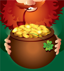 Leprechaun on Patrick's Day
