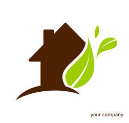 Logo maison feuilles