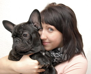 Frau mit Hund 2