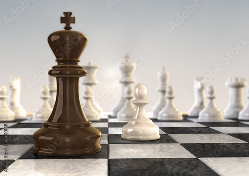 3s chess board pawn verus king