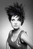Fototapety Model mit rockiger Frisur