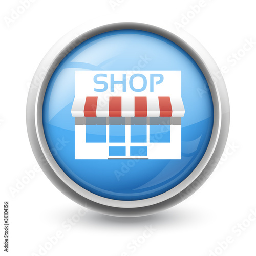 Symbole glossy vectoriel commerce 01