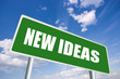 New ideas roadsign