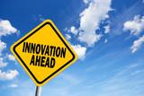 Innovation ahead sign