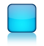 Blue blank web button