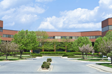 New Brick Office Building Trees Suburban MD USA