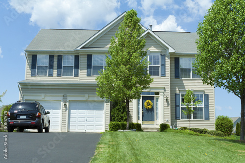 Vinyl Siding Single Family House Home Suburban MD