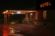 Motel entrance at night - 30107707
