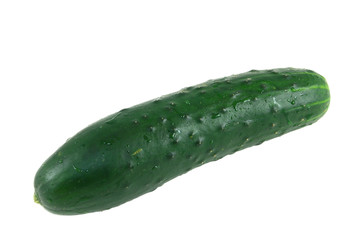 Green Cucumber On A White Background