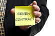 Renew contract post it