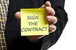 Sign the contract post it