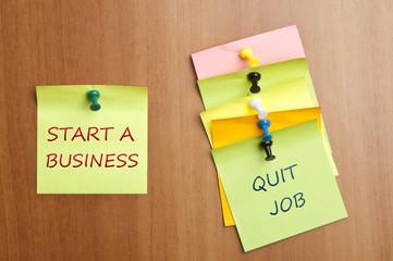 Start a business post it