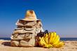 Rucksack and bananas