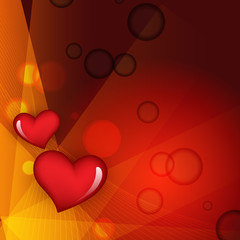 Abstract heart stylish background eps10