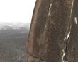 Climbers on rock climbing wall.
