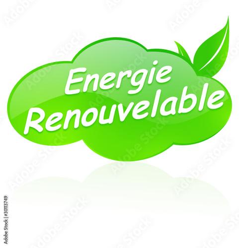 energie renouvelable sur bouton design nuage vert de ainoa fichier vectoriel libre de droits. Black Bedroom Furniture Sets. Home Design Ideas