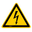 High Voltage Sign isolated on white