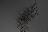 Moon lit Transmission Line Pylon