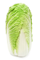 Chinese cabbage on white background