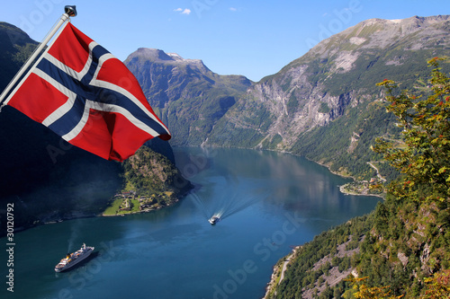Geirangerfjord in Norway (Unesco World Heritage)