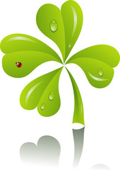 St. Patrick's background with clover, vector