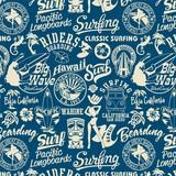 surf elements seamless pattern