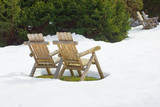 Outdoor Chairs in Snow