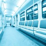 Fototapete Board - Bus - Tunnel / Unterirdisch