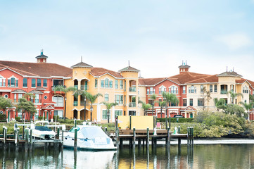 condo with boats florida typical architecture scene