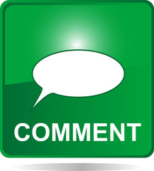comment web button green with bubbles
