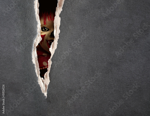 Leinwandbild Motiv Dark series - spooky clown