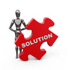Figur mit dem Solution-Puzzleteil